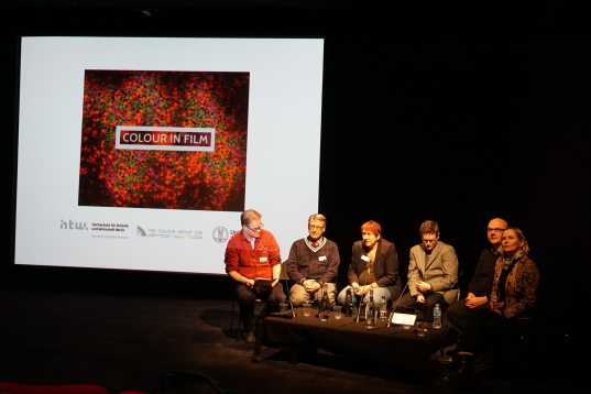 A panel discussion at The Third International Colour in Film Conference at the BFI