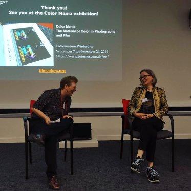 Q&A with Barbara Flueckiger - with Sarah Street as the chair https://twitter.com/flueko/status/1149008556802367488/photo/1